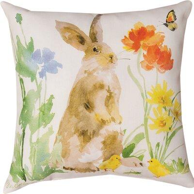 Collins Garden Bunny Flower Butterfly Throw Pillow