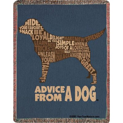 Advice from a Dog Text Tapestry Cotton Throw