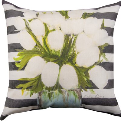 Floral Fusion Tulips Throw Pillow