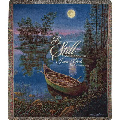 Moonlight Bay Tapestry Cotton Throw