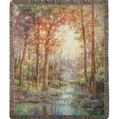 Natures Tranq with Verse Cotton Throw