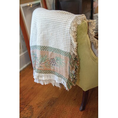 North Woods Pine cone 2 Layer Cotton Throw
