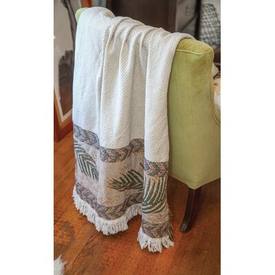 South Seas Palm 2 Layer Tapestry Cotton Throw