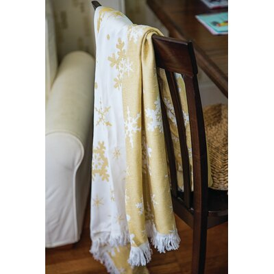 Snowflake Throw Color: Gold