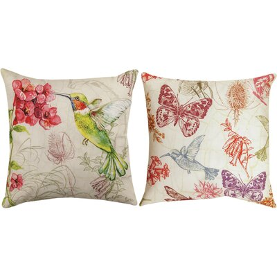 Natural Curiosities Hummingbird Throw Pillow