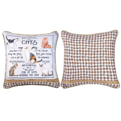 What We Learn from Cats - Dye Throw Pillow
