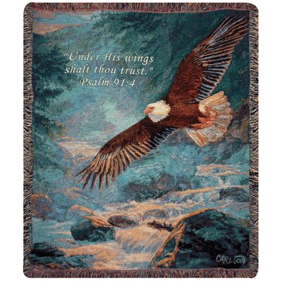 American Majesty Verse Tapestry Cotton Throw