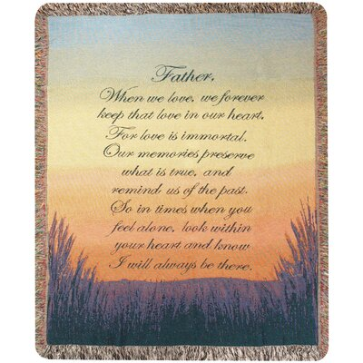 Forever a Father Tapestry Cotton Throw
