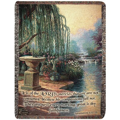 Hour of Prayer Verse Tapestry Cotton Throw
