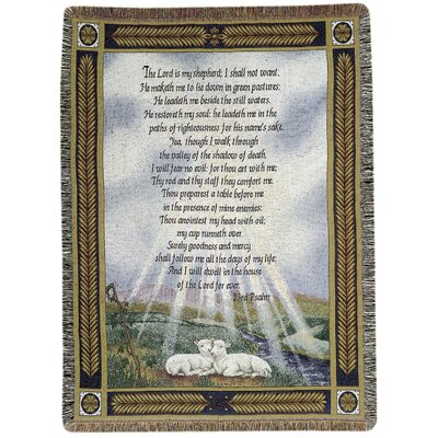 23rd Psalm Tapestry Cotton Throw