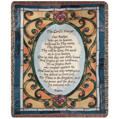 Lords Prayer Tapestry Throw