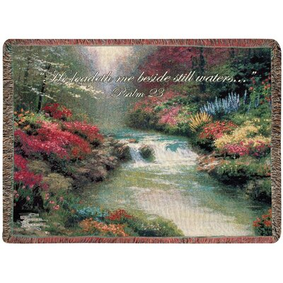 Beside Still Waters Tapestry Cotton Throw