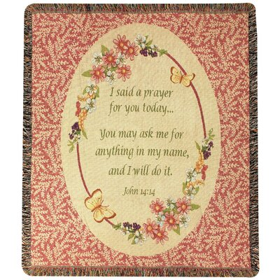 Todays Prayer Tapestry Cotton Throw