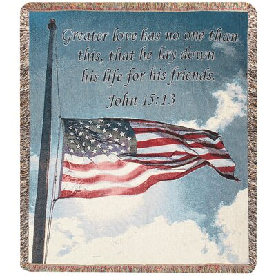 Salute to Our Soldiers Tapestry Cotton Throw