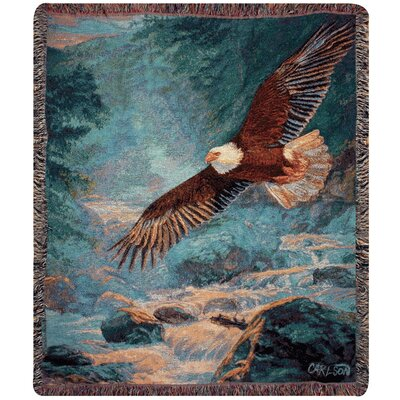 American Majesty Tapestry Cotton Throw