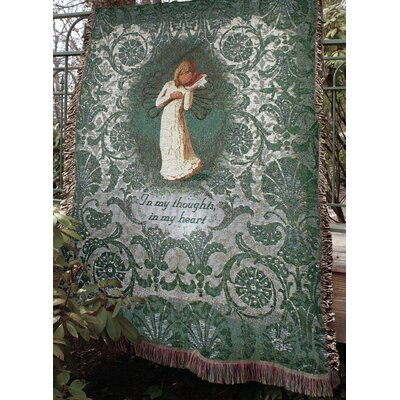 Willow Tree Thinking of You Tapestry Cotton Throw