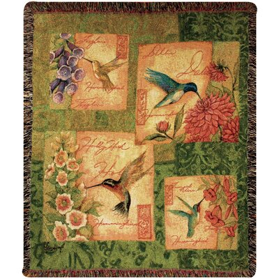Wings and Blossoms Tapestry Cotton Throw