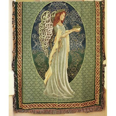 Irish Angel Tapestry Cotton Throw Blanket