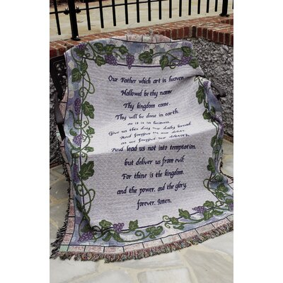 The Lords Prayer Tapestry Throw