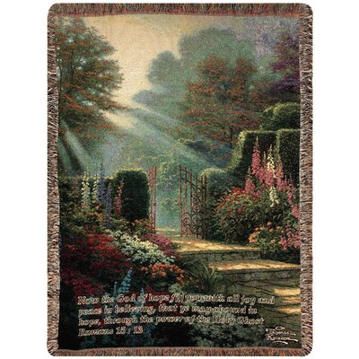 Garden of Grace Verse Tapestry Cotton Throw