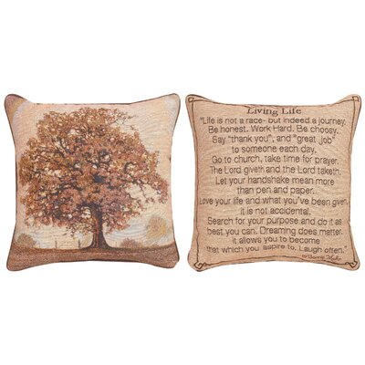 Living Life Throw Pillow