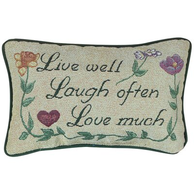 Love Much Word Lumbar Pillow