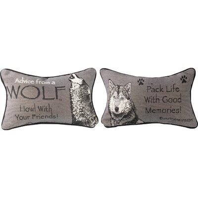 Advice from a Wolf Word Lumbar Pillow