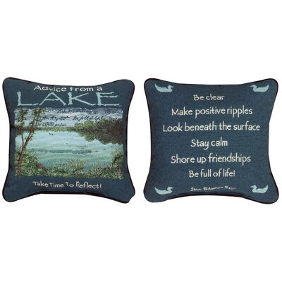 Advice from the Lake Throw Pillow