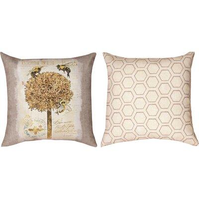Natural Life Bee Bumble Bee Throw Pillow
