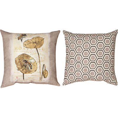 Natural Life Bee Honey Bee Throw Pillow