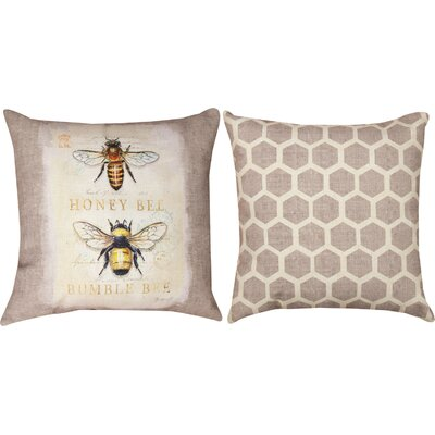 Natural Life Bee Nat History Throw Pillow