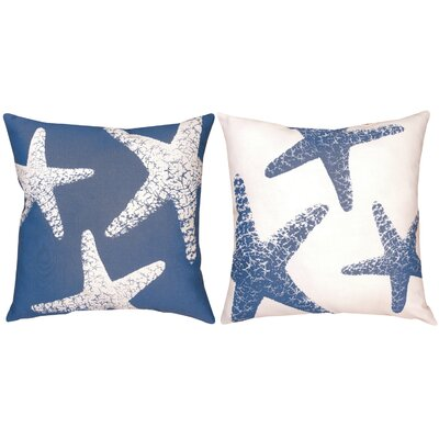 Nautical Ns Starfish Small Knife Edge Throw Pillow