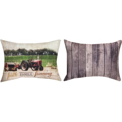 Faith Family Farming Lumbar Pillow