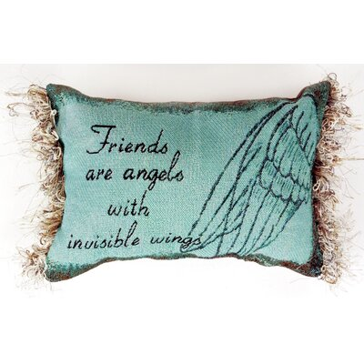 Friends are Angels Word Lumbar Pillow
