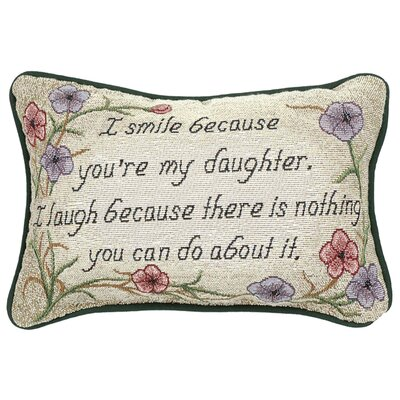 I Smile Because Daughter Word Lumbar Pillow