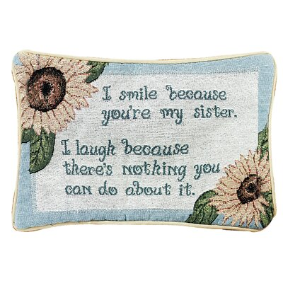 I Smile Because Word Lumbar Pillow
