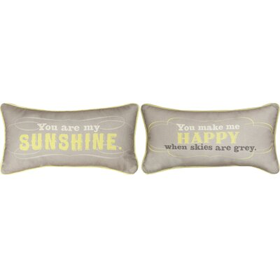 You are My Sunshine Cotton Lumbar Pillow