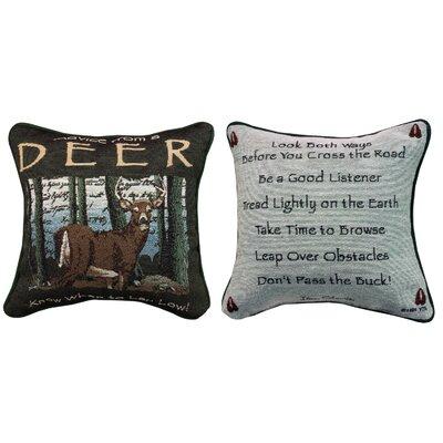 Advice from a Deer Throw Pillow