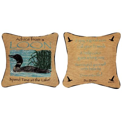 Advice from a Loon Throw Pillow