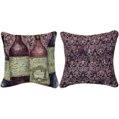 Sanctuary Wine 5 Bottles Throw Pillow