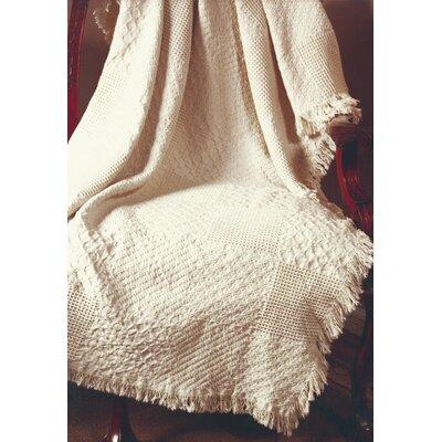 Textured Blocks Natural 2 Layer Cotton Throw
