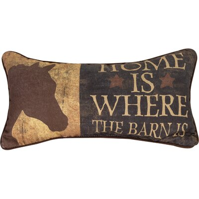 Home is Where the Barn is Cotton Lumbar Pillow