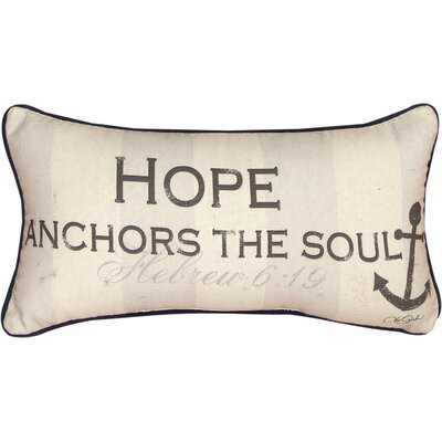 Hope Anchors the Soul Cotton Lumbar Pillow
