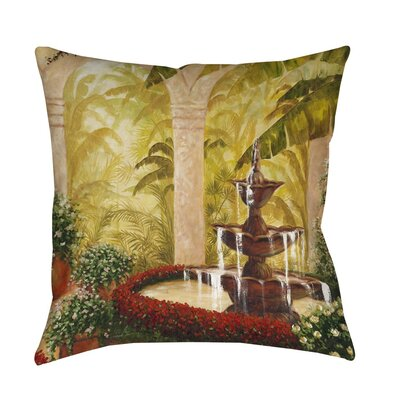 Palm Garden II Indoor/Outdoor Throw Pillow Size: 16 H x 16 W x 4 D