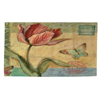 Sketchbook Floral Tulip Area Rug Rug Size: 4 x 6