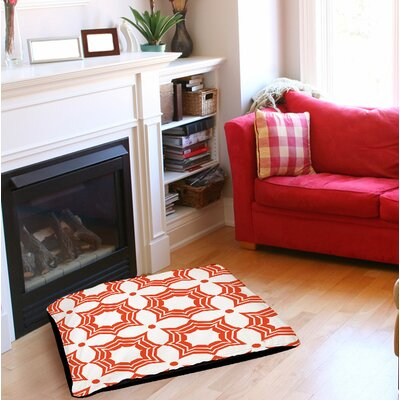 Sparkle Indoor/Outdoor Pet Bed Size: 28 L x 18 W, Color: Orange
