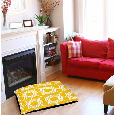 Sparkle Indoor/Outdoor Pet Bed Size: 50 L x 40 W, Color: Yellow