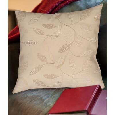 Wasinger Printed Throw Pillow Size: 18 H x 18 W x 5 D, Color: Taupe