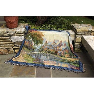 Cobblestone Bridge Verse Tapestry Cotton Throw