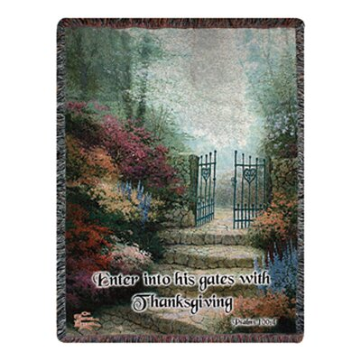 Garden of Prom Verse Tapestry Cotton Throw